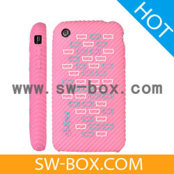 Крышка Skidproof силиконовый чехол для Apple iPhone 3GS iPhone 3G (розовый) (34906)