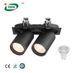 Профессионального светодиодного освещения на заводе GU10 зажимное приспособление для набегающей утопленную потолочный фонарь направленного света корпус Домашнее освещение
