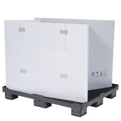 Zusammenklappbare, Maßgeschneiderte Kunststoff-Palettenbox, Volumen 800 l