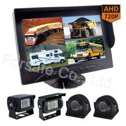 """Ahd 720p 9를 가진 타전된 HD 차 Rearview 사진기 시스템 """" 쿼드 전망 모니터"""