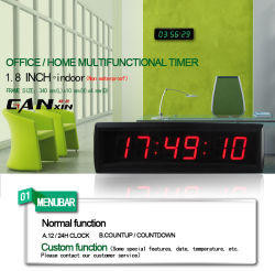 [De LEIDENE van Ganxin] Digitale Tijdopnemer van de Aftelprocedure met de Functie van de Klok en van de Chronometer