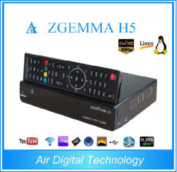 Dual Core Hevc Zgemma H5/H. 265 Combo DVB-S2+DVB-T2/C Live TV Box