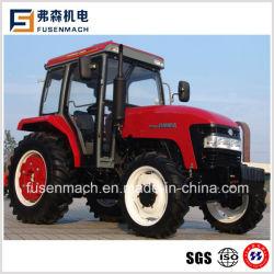 55kw農業(75HP、タクシーとの4WD)のための四輪駆動の農場の車輪のトラクター