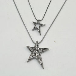 VAGULA Fashion Gun Metal CZ Rhinestone Star Poignée de commande