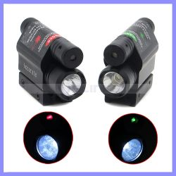 Erweiterte Optik Taktische Kompakte Schiene Montiert Rot Grün Laser-Sicht Mit 300 Lumen LED-Taschenlampe
