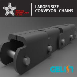 81X de alta calidad de Acero Inoxidable acero al carbono de la cadena transportadora de madera de madera