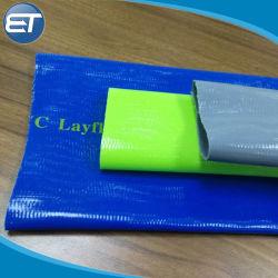 أنبوب مسطح أصفر / أزرق / أخضر - PVC الري بمضخة تفريغ خرطوم توصيل المياه