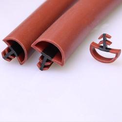 Plastique souple PVC Extrusion en caoutchouc des joints de vitre de porte en bois&