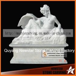 Pierre tombale statues en marbre granit blanc Monument