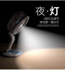 2020 Nuevo diseño del ventilador Solar con Solar LED Solar lámpara de lectura de la luz de emergencia