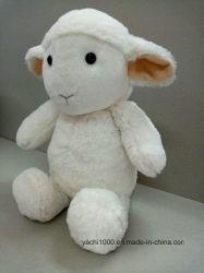Lindo juguete de peluche suave peluche oveja sentado