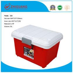 Boîte à outils en plastique pour la voiture, 35L en plastique mallette à outils de matériel