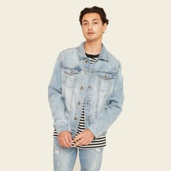Classsic Cool hommes denim Veste d'usure de la rue de cow-boy