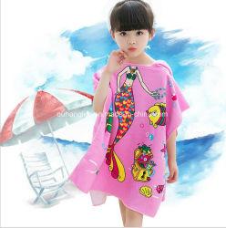 Оптовая торговля пользовательских печатных детский пляж полотенце колпачковая Poncho полотенце
