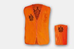 آلة حلاقة Orange Safety Working Vest مع المغرفة
