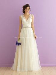 A - ligne robe nuptiale de mariage de lacet de Bohème de robe