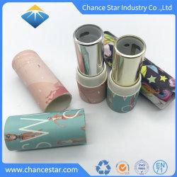 2019 Nova chegada tubos de papel personalizado para o bálsamo para lábios com injeção de plásticos de torção