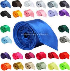 Оптовая торговля моды Skinny Обычный цветной полиэстер шелковые мужчин реактивной тяги (белый04)
