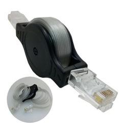 transparante Met hoge weerstand van de Kabel van het Netwerk Cat5e UTP van de Kabel Ethernet van 1.5m RJ45 Intrekbare Vlakke voor Van het Bedrijfs notitieboekje Reis