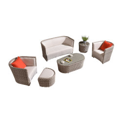 Moderno Sintético Rattan Garden Lying Sectional Sofá Muebles