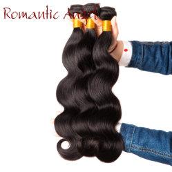 卸し売り12A等級の柔らかいバージンRemyはブラジルかペルーまたはマレーシアボディ波の人間の毛髪閉鎖を束ねる