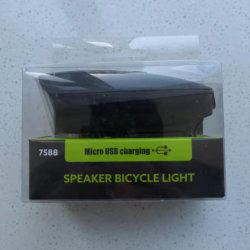 Lampe phare vélo rechargeables USB (7588)