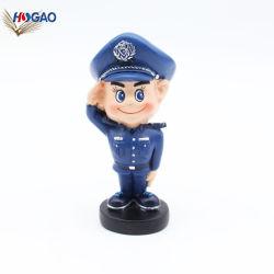 La polizia Handmade 2019 della resina dell'OEM equipaggia Bobble la testa