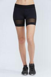 Commerce de gros Fashion femmes sexy noir pur exécutant LOISIRS FITNESS SPORT Mesh Shorts