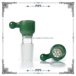 18mm 14mm verde macho el tazón de vidrio cristal de Perc Panal cuencos de fumar