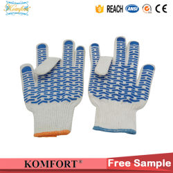 Jauge 13 Travail Travail Gant Gant de coton tricotés main Gants Gants PVC DOT (JMC-430A)