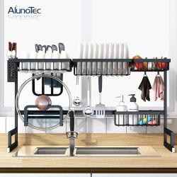 Einfaches DIY 85cm Edelstahl-Küche-Standplatz-Speicher-Regal über Wannen-Teller-trocknender Zahnstange