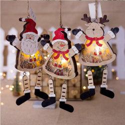 LED leuchten Weihnachtshölzerner hängender Dekoration