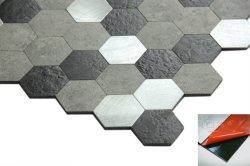 Le marbre à la recherche en PVC à six pans de l'autonomie Stick Wall Tile Papier peint pour la cuisine