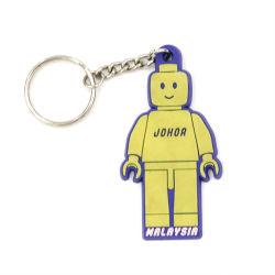 Rubberpvc Keychains van de Manier van de Douane van het Embleem van de douane 2D met Embleem