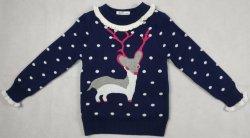 Gola Redonda da Gril mangas longas suéter com forro em veludo Snow DOT