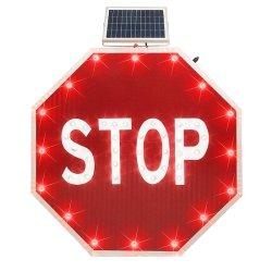 Productos solares de la seguridad vial de tráfico de LED de aluminio de la señal de stop