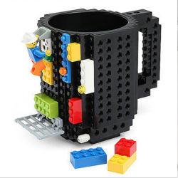 350ml construire -sur la brique tasse tasse à café de type bloc bricolage Puzzle Tasse de voyage en plastique