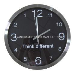 La mode de marche arrière en acier inoxydable de l'Horloge Horloge murale pour le marché de gros