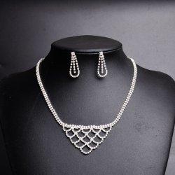 Оптовая торговля Crystal устраивающих свадьбу ожерелья серьги украшения,