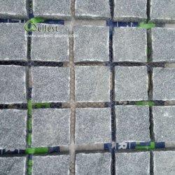 G654網の暗い灰色の正方形の立方体の花こう岩のペーバー