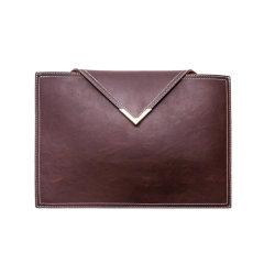 Ordinateur portable de luxe Single-Ply le manchon d'élargir le dossier de fichiers Style enveloppent cuir synthétique Support de sac de document