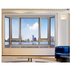 شرفة في الداخل درجة حرارة النافذة المتأرجحة زجاج ألومنيوم قلوي إلى الداخل فتح النوافذ