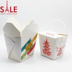 Fast Food упаковке/квадратным основанием забирать лапшу в салоне/крафт-бумаги квадратных рисовая лапша ящики