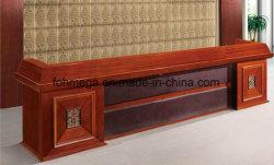 تصميم فاخر Wood Veneer مكتب الاستقبال طاولة