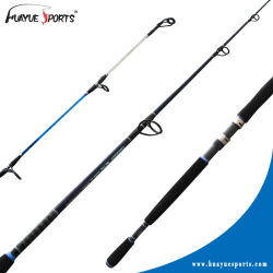 Commerce de gros 2 Section Graphite Spinning Canne à pêche