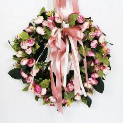Personalizados de alta qualidade linda coroa de flores artificiais para decoração