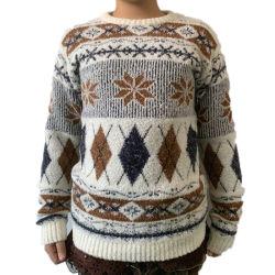Новая конструкция дешевле осенью зимние рождественские детский акрил Логотип трикотажные свитер детей пуловер