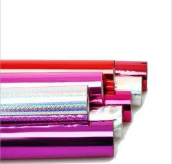 Feuille de transfert de chaleur/électrochimique pour le papier /plastique en aluminium