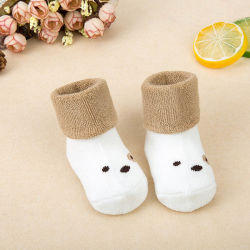 100% algodón orgánico de bebé para recién nacidos, calcetines calcetines Bebé