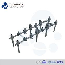 El tornillo de pedículo Polyaxial estándar, implante ortopédico, instrumento médico de la columna vertebral